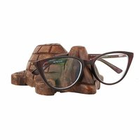Thanksgiving Gifts Handcrafted Wooden Eyeglass Spectacle Holder Organizer Stand Desk Desktop Sunglasses Display Eyewear Decorative Accessories(Turtle) Colour May Slightly Vary