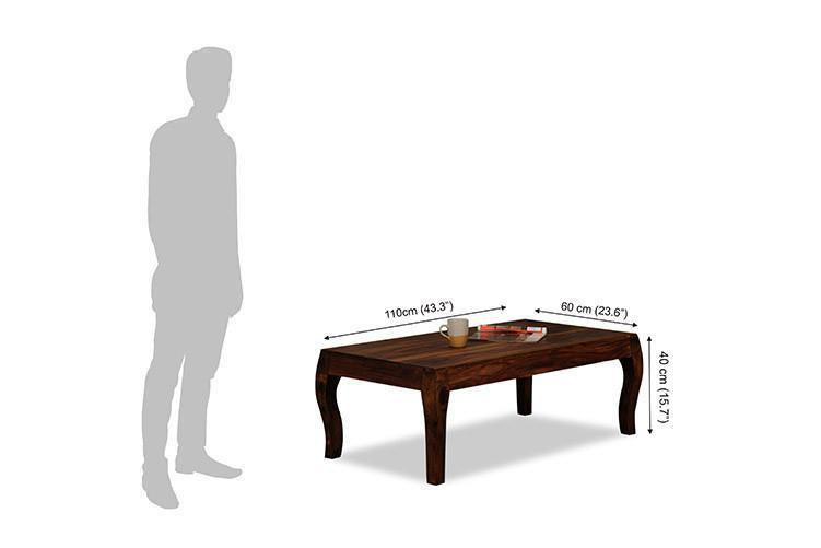 Solid wood center coffee table Meander