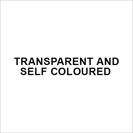 Transparent and Self coloured
