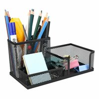Metal Mesh Desk Supply Organizer Office Supply Caddy Pen Holder Pencil Cup Desktop Storage Organize