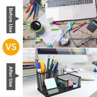 Metal Mesh Desk Supply Organizer Office Supply Caddy Pen Holder Pencil Cup Desktop Storage Organize