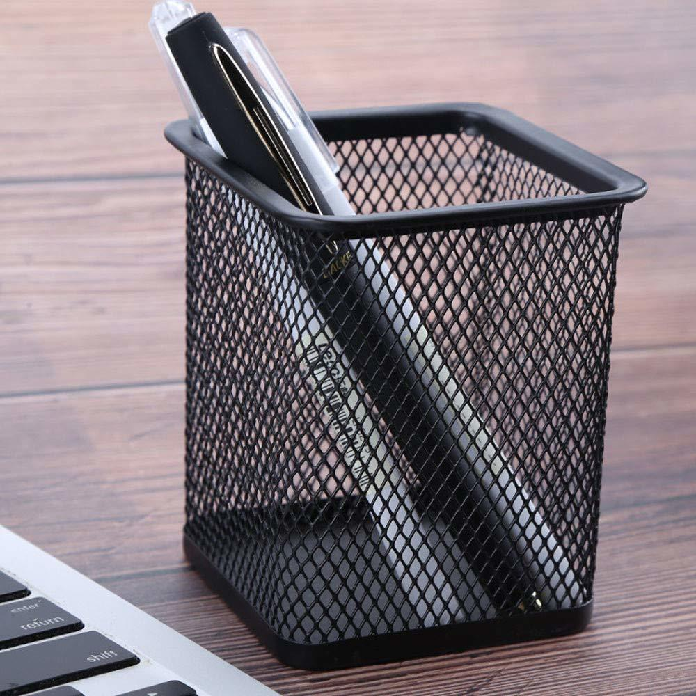 Classic Metal Square Mesh Pen Stand