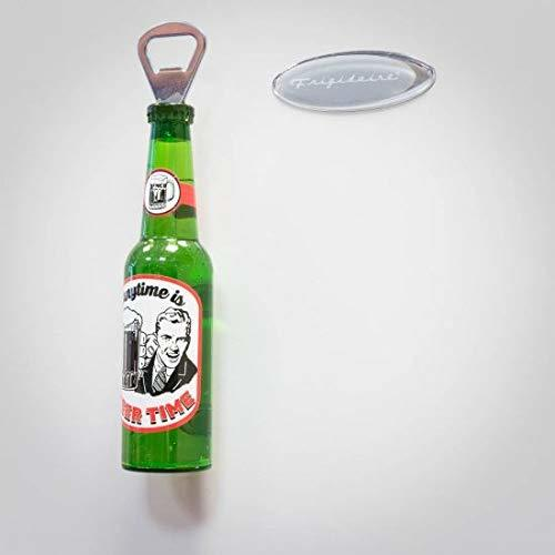 2 in 1 Shaped Bottle with Opener and Fridge Magnet (Clear, Small) 1 PC Assorted Design Will be Sent as per Availability