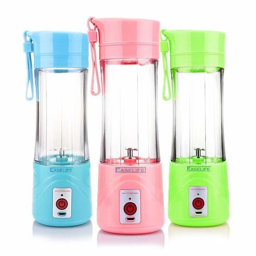 Ezzi Deals Classic Portable USB Rechargeable Hand 1 Juicer Mixer Grinder  (Multicolor, 1 Jar)
