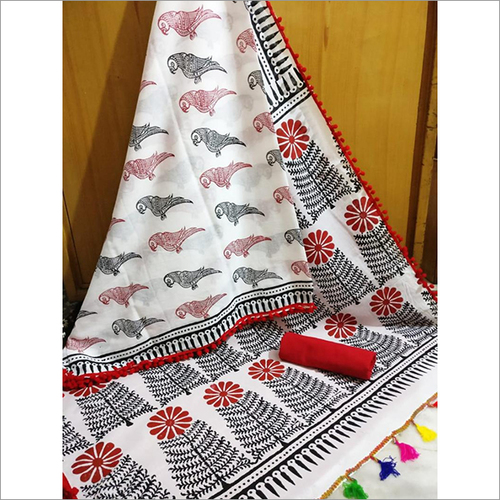 Cotton Mulmul Saree
