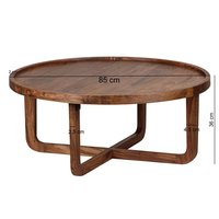 Solid wood center Coffee table Circlet