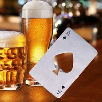 Stainless Steel Credit Card Size Casino Bottle Opener Beer Bottle Opener Cap Opener for Your Wallet