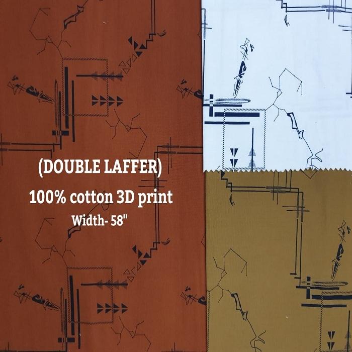 Double Laffer 100% cotton 3D print