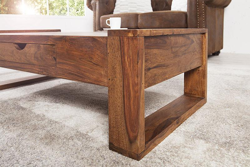 Solid wood Center coffee table with drawer Siphon
