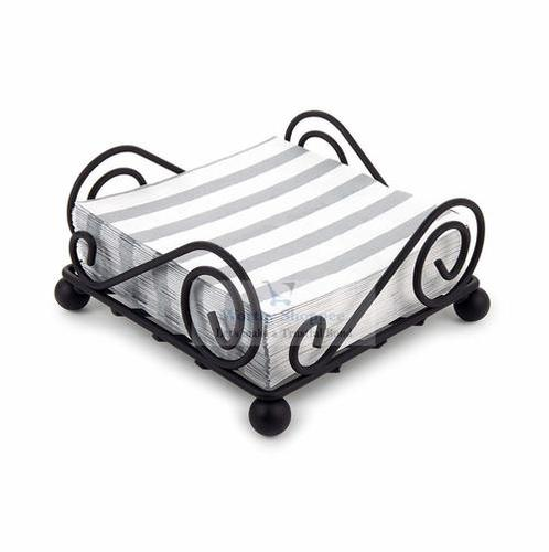 Square Decorative Wrought Iron Tissue Holder Napkin Holder Stand