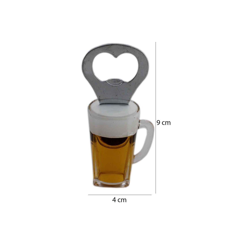 Bottle Opener Fridge Magnet Glass Shape Pack of 1 PC