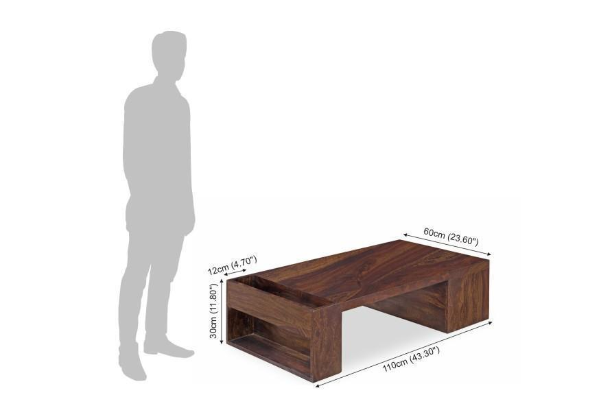 Solid wood Center Coffee table Impresso
