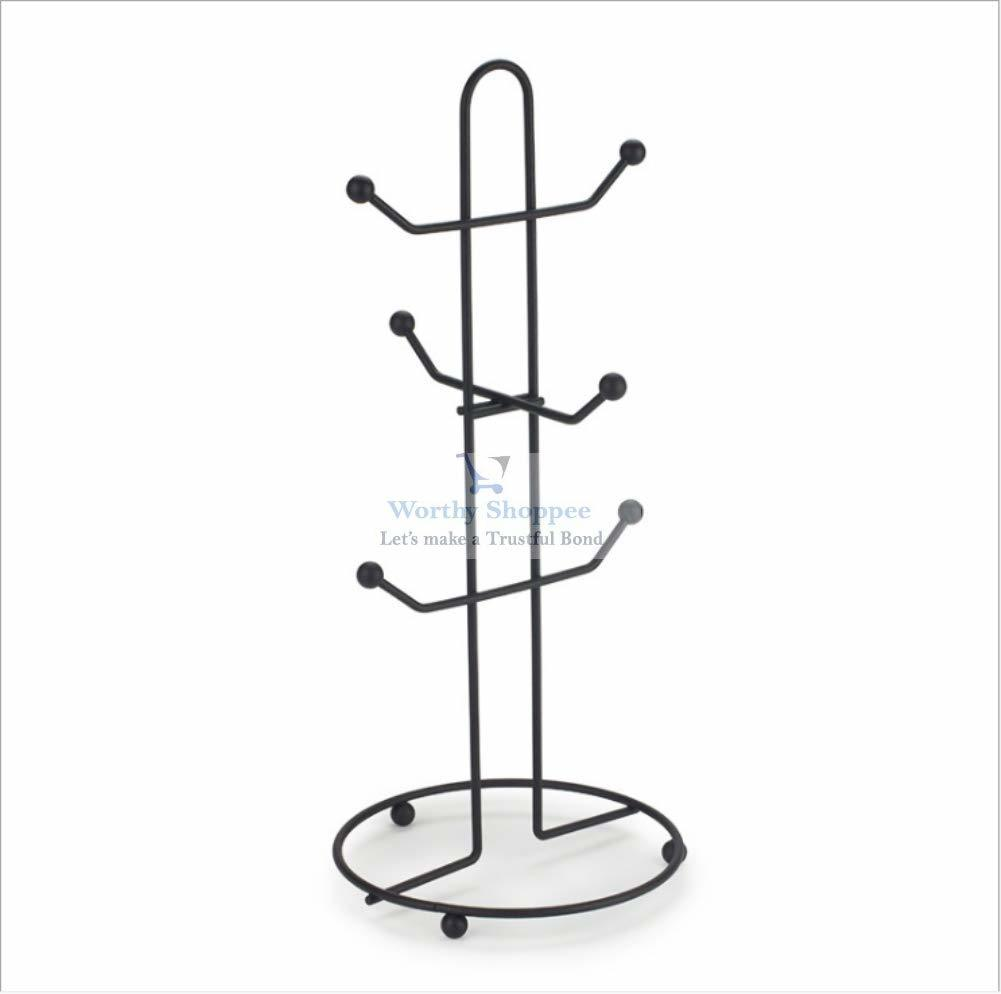 Tea Cup Stand Mug Holder Wrought Iron Heavy Quality Cup Stand for 6 Cup