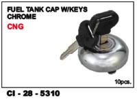 Fuel Tank Cap W/Keys Chrome Cng