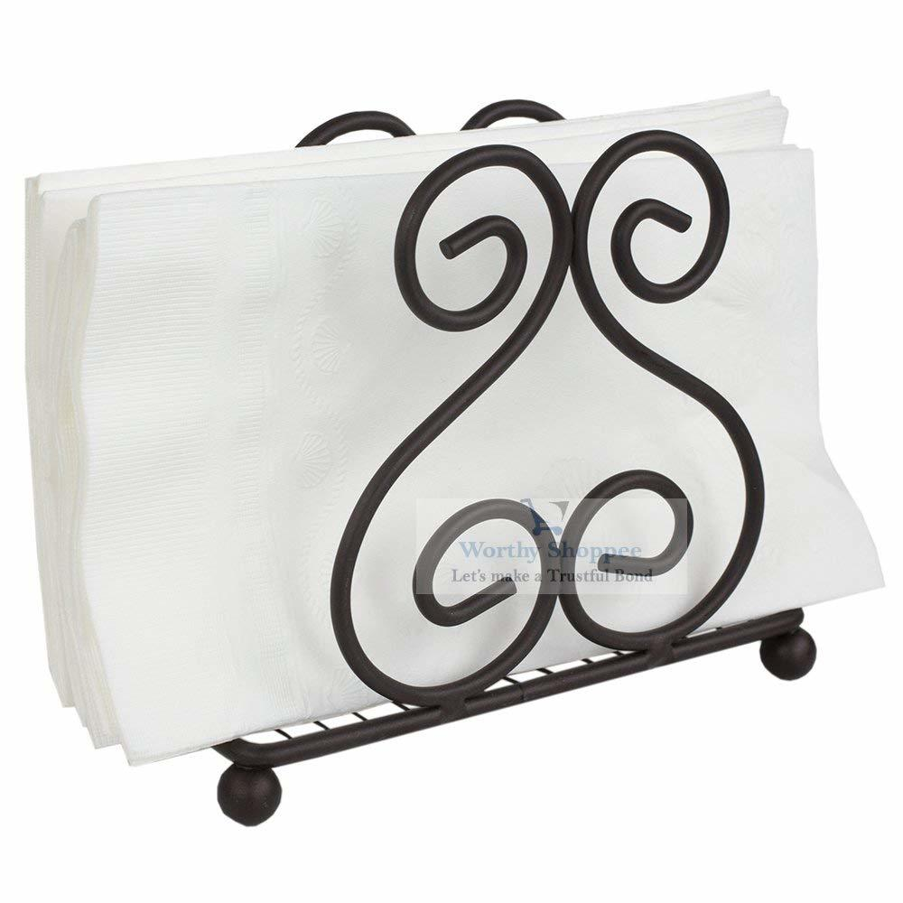 Iron Napkin Holder for Dining Table, Tissue Paper Stand