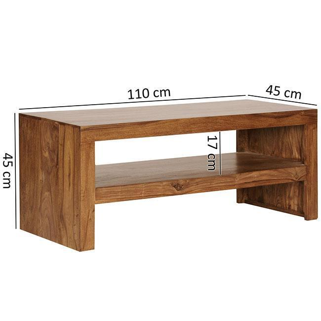 Solid wood center coffee table Cleara