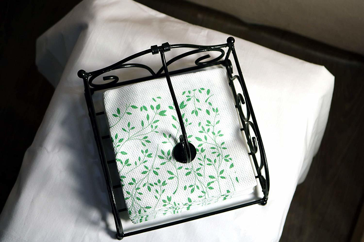 Handmade Iron Napkin Holder for Napkin and Tissue Papers Upto 6 inches
