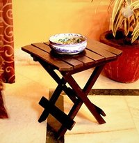 Wooden Folding Table for Living Room,12x12x12 Inch (Black) Coffee Table Tea Table