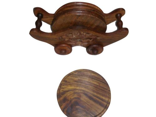 Wooden Coaster Set (Brown)