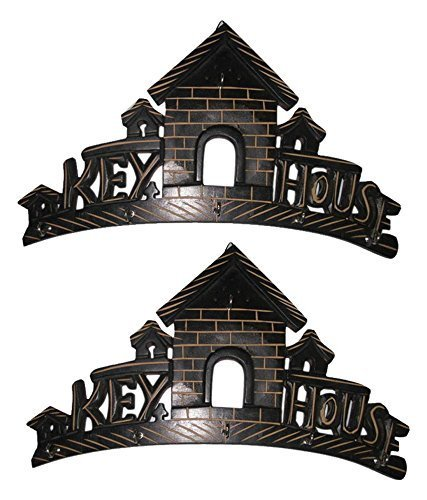 Black Wood Key Holder - Set of 2