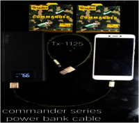 TX-1125  POWER BANK CABLE WITH DATA COMMANDER
