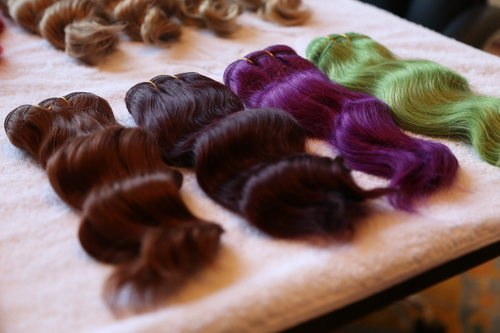 Assorted Colours Human Hair Extensions
