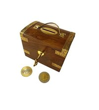 Wooden Money Bank Box Shape/Coin Bank/Piggy Bank (Brown)
