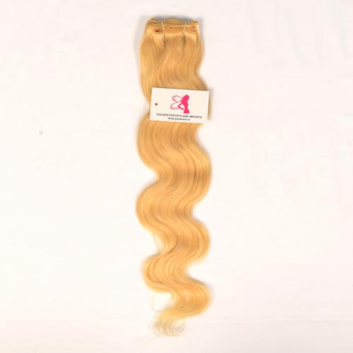 613 BLONDE WAVY WEFT HAIR
