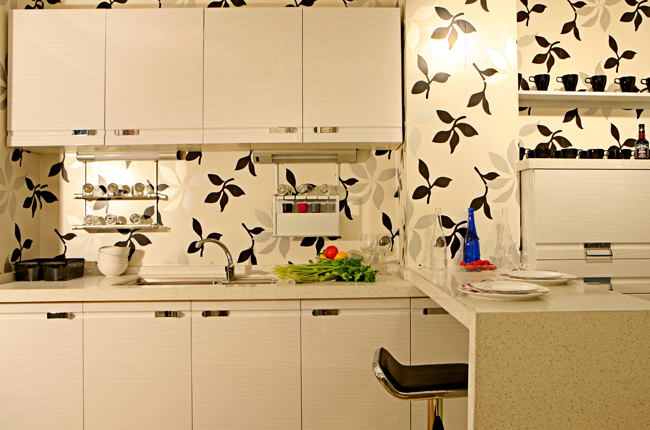 White color Door Modern Design Kitchen Cabinet Set