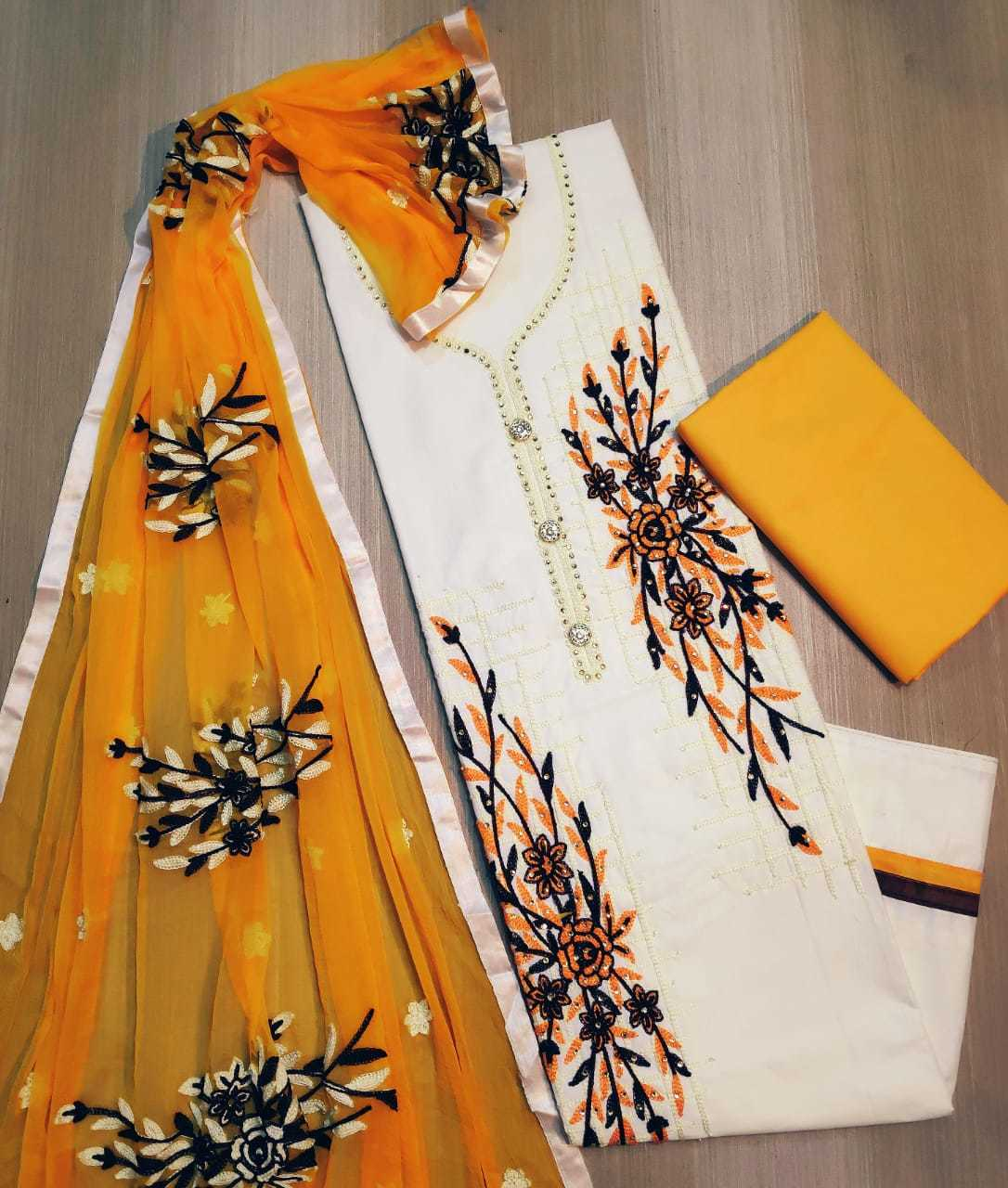 COTTON EMBROIDERED SUITS