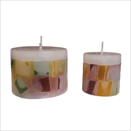 Multicolored Chunk Candle