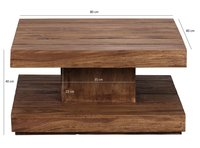 Solid wood Center wooden Table Artifice