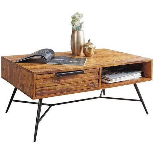 Wooden center coffee table with drawer Impresso