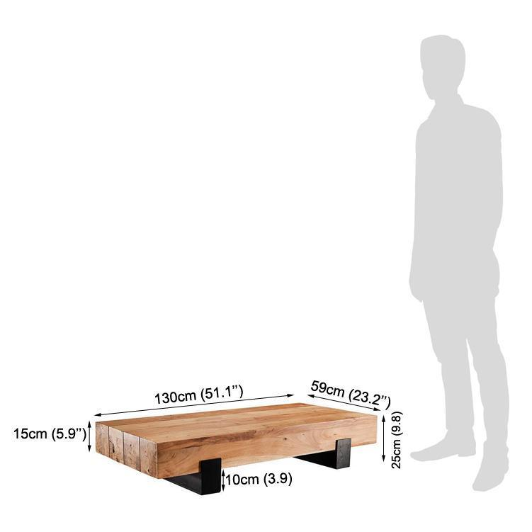 Wooden Center coffee table Iron mix Croke