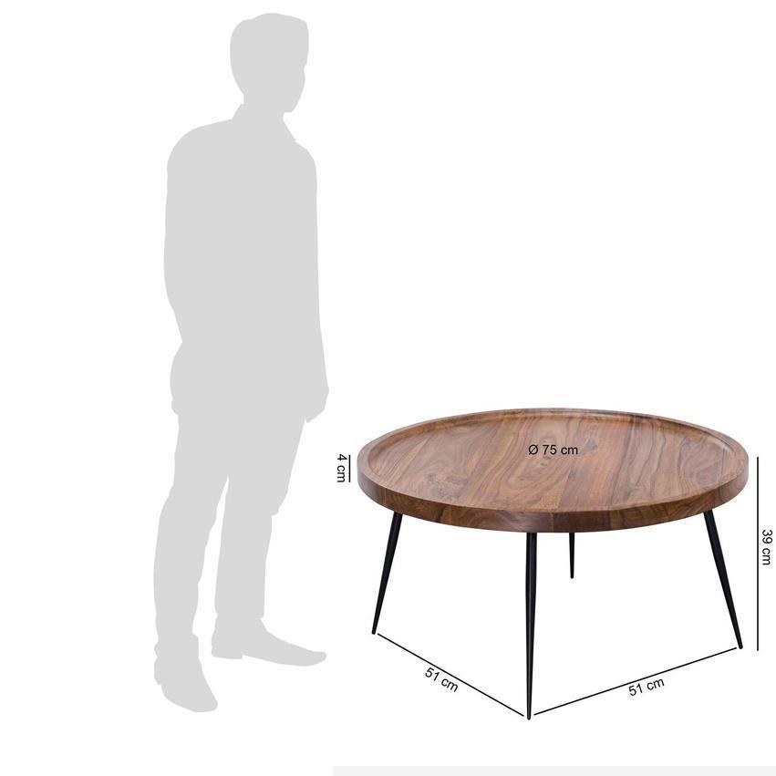 Wooden center coffee table Iron legs Disclet