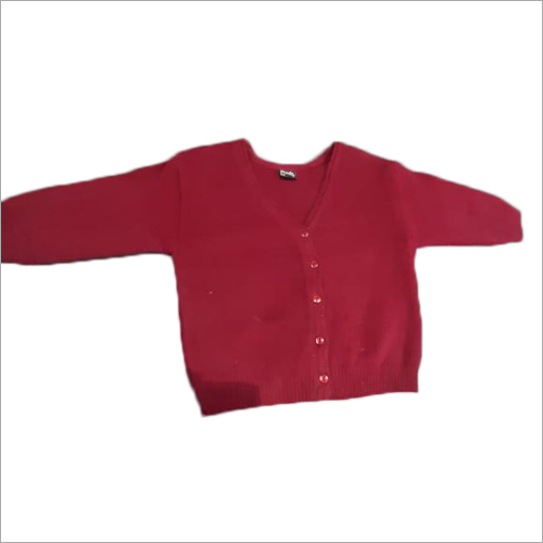 Ladies Red Woolen Blouse Sweater