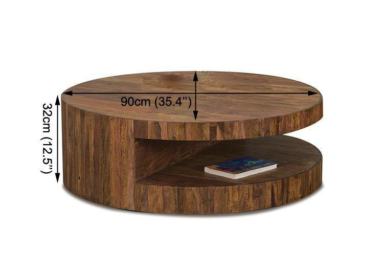 Wooden center Coffee Table Discoid