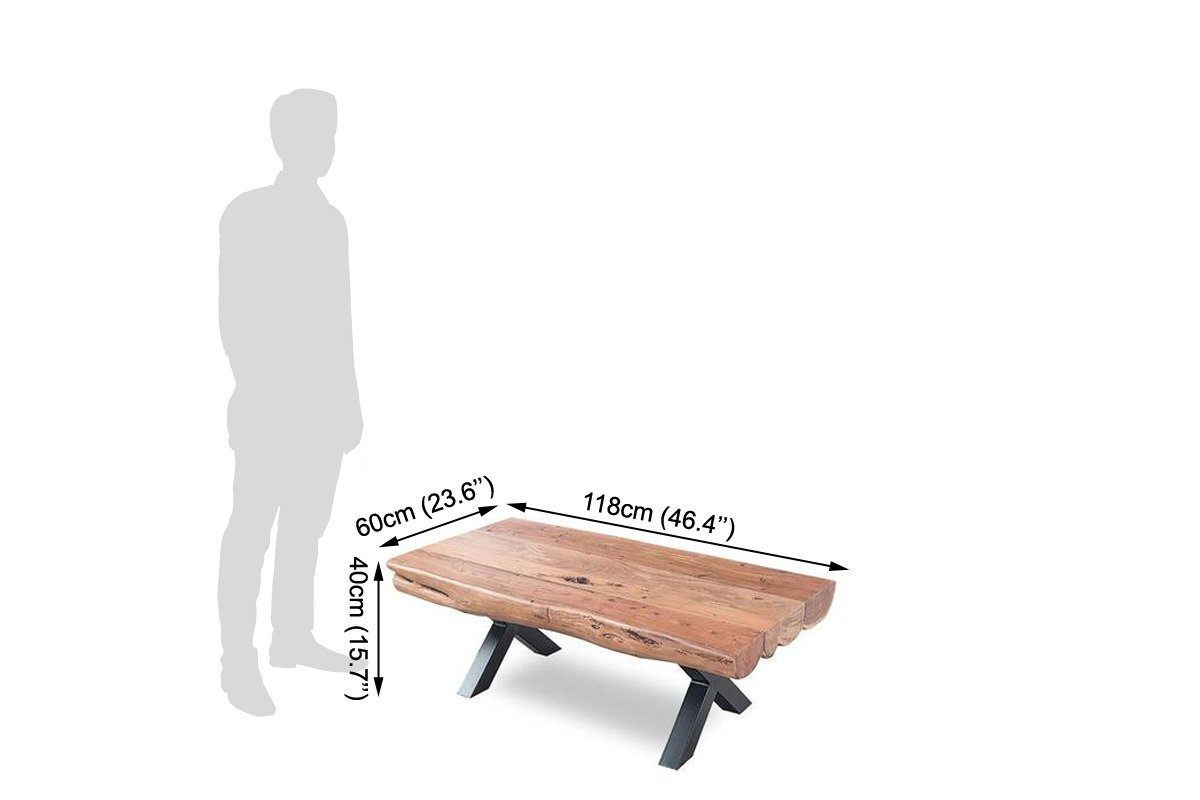 wooden center table with Iron legs Verger