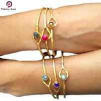 Ruby Round 925 Silver Bangles