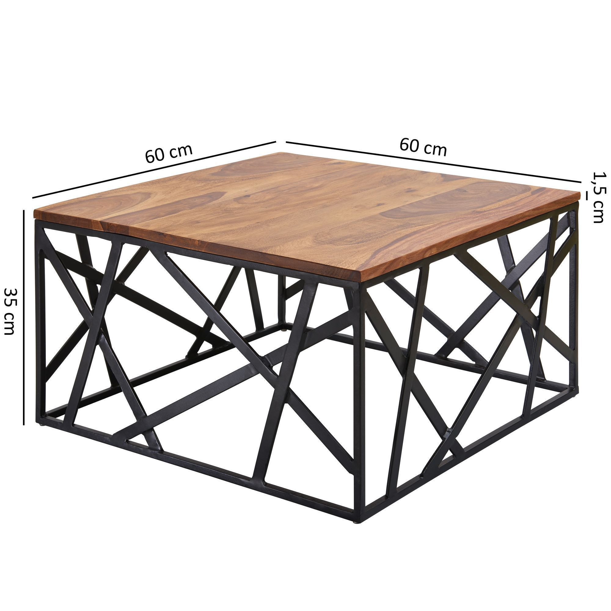 Wooden center table With Iron Mix Maestro
