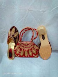 Red era handbags & sandal