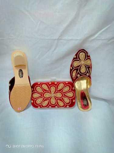 Maroon Shoes & Bag