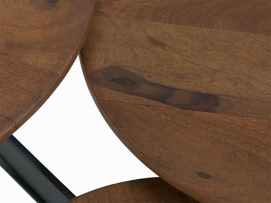 Wooden Designer Center table Trio shape