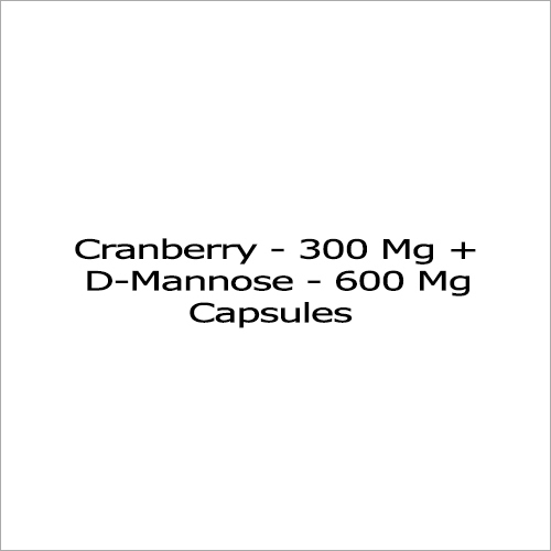 Cranberry  300 Mg Plus D-Mannose 600 Mg Capsules