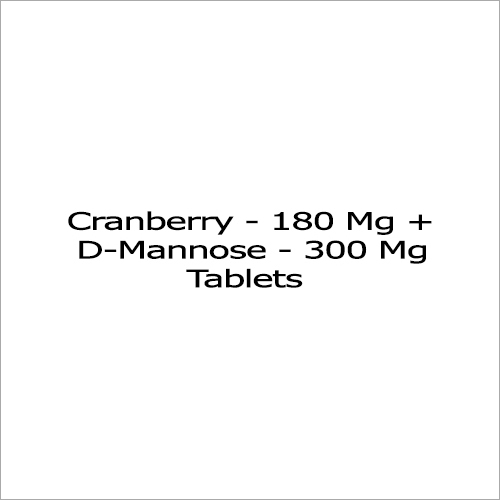 Cranberry 180 Mg Plus D-Mannose  300 Mg Tablets