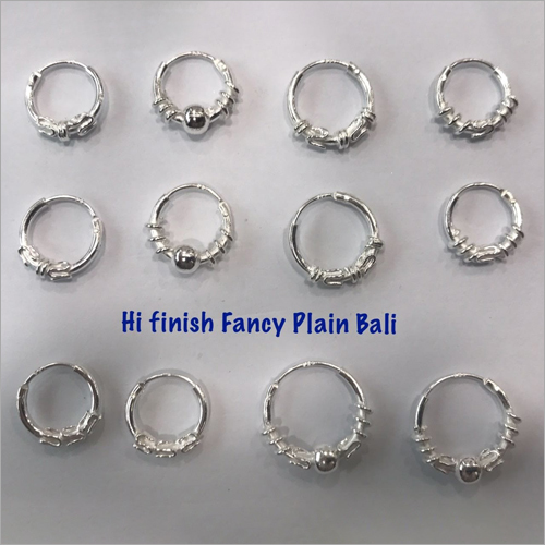 Ladies Fancy Plain Hoop Earrings