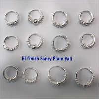 Ladies Fancy Plain Hoop Earrings