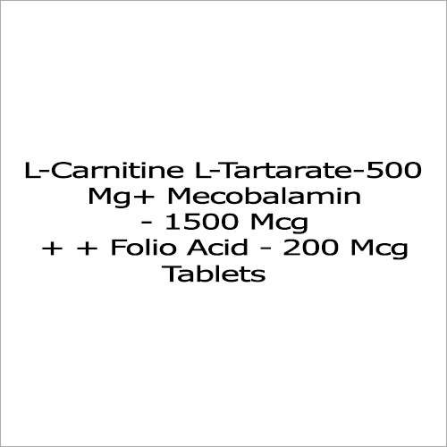 L-Carnitine L-Tartarate - 500 Mg + Mecobalamin - 1500 Mcg + + Folio Acid - 200 Mcg Tablets