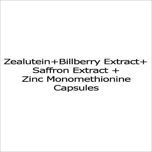 Zea Lutein + Bilberry Extract + Saffron Extract + Zinc Monomethionine Capsule