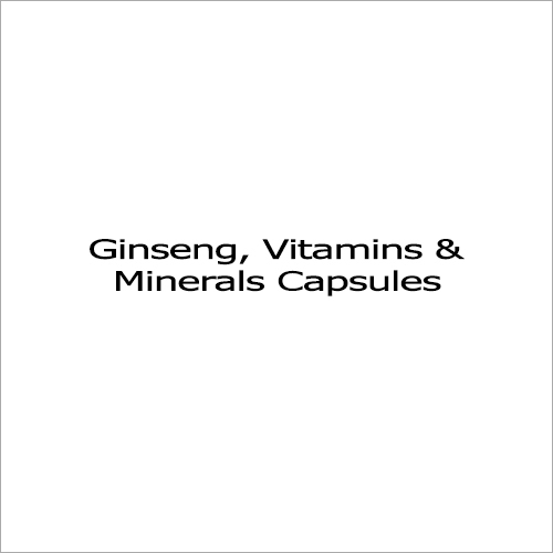 Ginseng - 42.5 Mg + Lycopene - 6000 Mcg, Vitamins And Minerals Capsules
